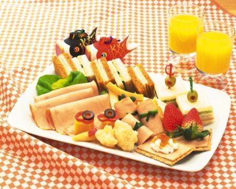 こどもの日「Sandwich, Lunch, High Angle View」:スマホ壁紙(2)