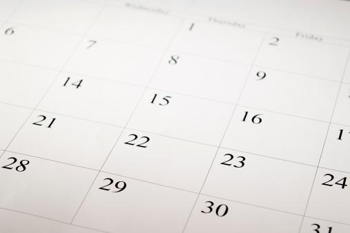 Weekend Activities「Close-up shot of a blank calendar with calendar date」:スマホ壁紙(0)
