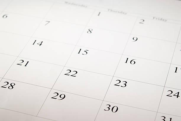Close-up shot of a blank calendar with calendar date:スマホ壁紙(壁紙.com)