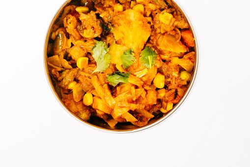 Vegetable Curry「Close-up shot Indian Food」:スマホ壁紙(17)