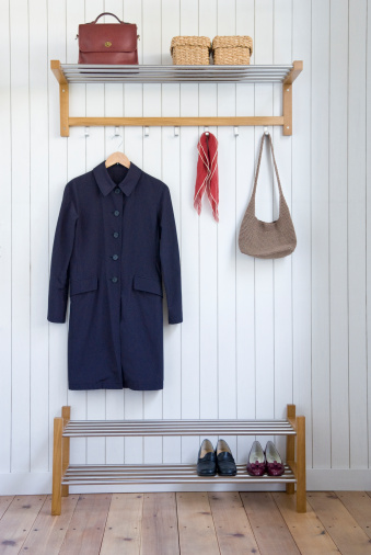 Coat - Garment「Coat and bag on hangers」:スマホ壁紙(11)