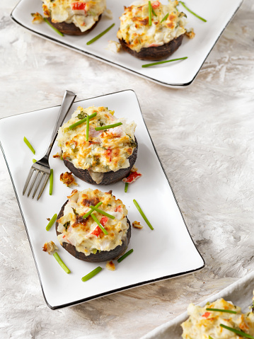 Pollock - Fish「Creamy, Crab and Shrimp Stuffed Mini Portobello Mushroom Caps」:スマホ壁紙(7)