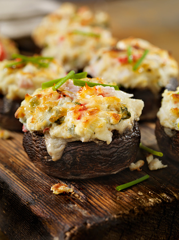 Pollock - Fish「Creamy, Crab and Shrimp Stuffed Mini Portobello Mushroom Caps」:スマホ壁紙(11)