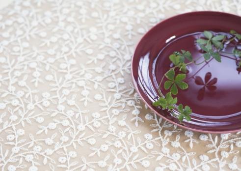 レース模様「Plants on the plate」:スマホ壁紙(9)