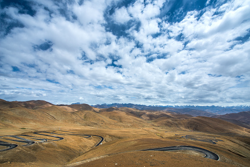 Hairpin Curve「Tibet Shigatse Mount Everest panshanlu Tingri」:スマホ壁紙(16)