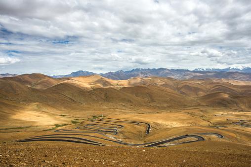 Hairpin Curve「Tibet Shigatse Mount Everest panshanlu Tingri」:スマホ壁紙(13)