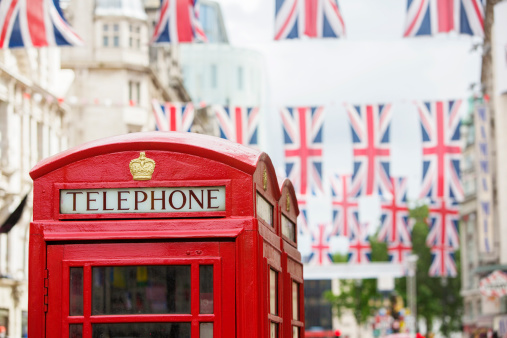 Bunting「Telephone booth and Union Jack Flags」:スマホ壁紙(6)