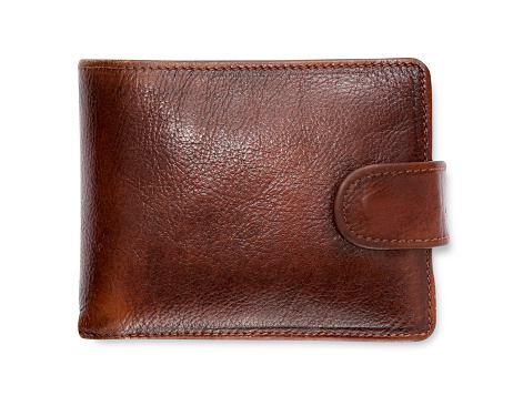 Change Purse「Plain brown leather wallet isolated on white background」:スマホ壁紙(0)