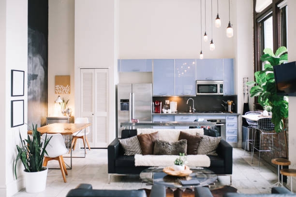 Cozy loft apartment interior in Downtown Los Angeles:スマホ壁紙(壁紙.com)