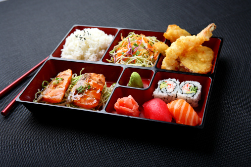 Japanese Food「Bento - Salmon & Sushi」:スマホ壁紙(17)