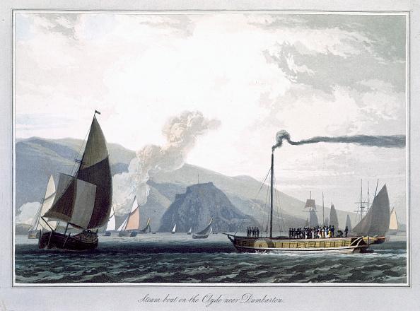 Passenger Craft「Steam Boat On The Clyde Near Dumbarton' Scotland 1829」:写真・画像(18)[壁紙.com]