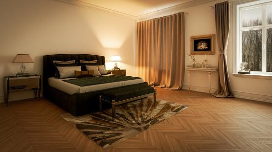 Desk Lamp「Master Bedroom Interior」:スマホ壁紙(5)