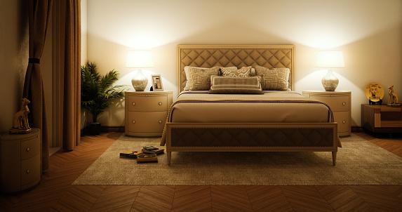Curtain「Master Bedroom Interior」:スマホ壁紙(12)