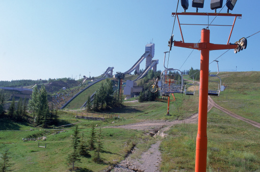 Ski Resort「Ski lift at Canada Olympic Park, Calgary, Alberta,」:スマホ壁紙(4)