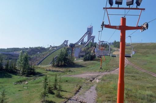 Ski Resort「Ski lift at Canada Olympic Park, Calgary, Alberta,」:スマホ壁紙(18)