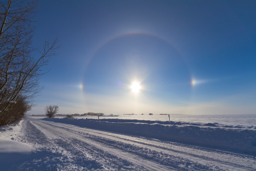 プリズム「January 30, 2011 - Solar halo and sundogs in southern Alberta, Canada.」:スマホ壁紙(15)