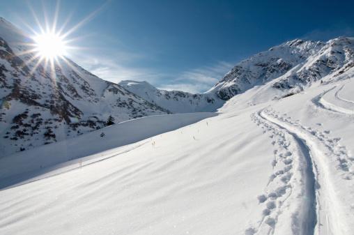 スキー「スキー登山」:スマホ壁紙(1)