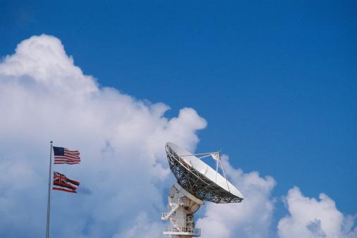 Waimea Bay「Array/satellite dish with flags」:スマホ壁紙(17)