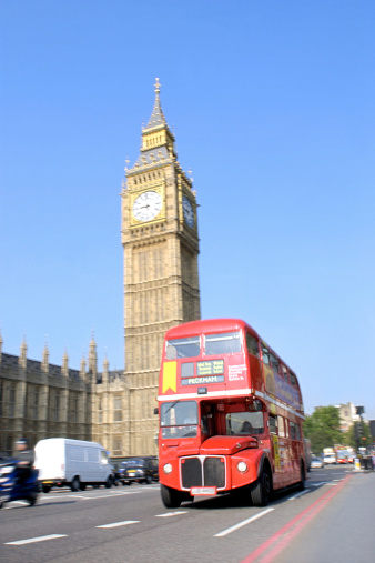 Double-Decker Bus「Double-decker bus and Big Ben, London, England」:スマホ壁紙(9)
