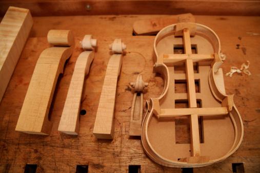 Violin「Germany, Upper Bavaria, Schaeftlarn, Violin and scroll shapes」:スマホ壁紙(13)