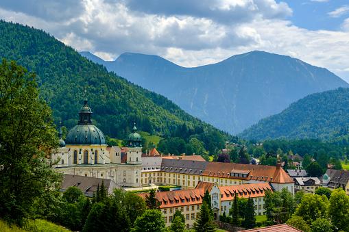 Abbey - Monastery「Germany, Upper Bavaria, Ammergau Alps, Benedictine Abbey Ettal」:スマホ壁紙(0)