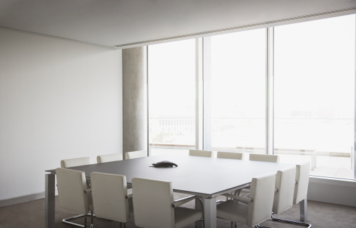 Chair「Empty conference room in modern office」:スマホ壁紙(10)