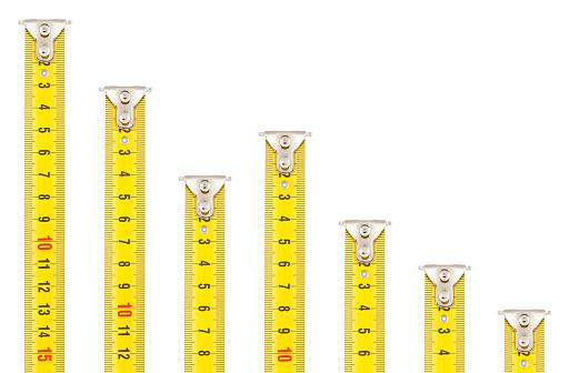 Deterioration「Tape Measures - Falling Bar Graph」:スマホ壁紙(14)