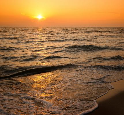 Waimea Bay「Dusk along the beach seaside」:スマホ壁紙(6)