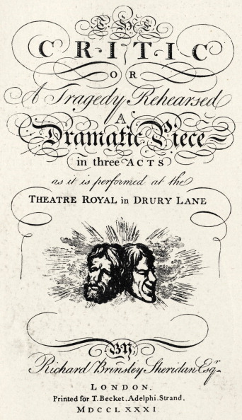 T 「Richard Brinsley Sheridan - 'Critic' - title page of  first edition」:写真・画像(1)[壁紙.com]