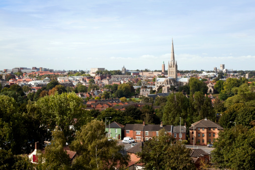 Norfolk - England「Norwich seen from Mousehold Heath」:スマホ壁紙(18)