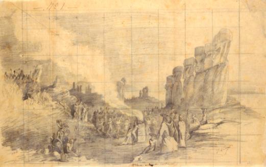 1870-1879「Easter Island, Religious Festival, 1872」:スマホ壁紙(5)