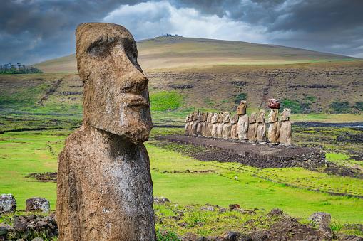 Indigenous Culture「Easter Island Ahu Tongariki Travelling Moai Rapa Nui」:スマホ壁紙(14)