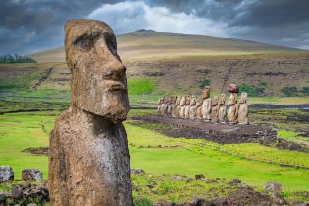 Easter Island Ahu Tongariki Travelling Moai Rapa Nui:スマホ壁紙(壁紙.com)