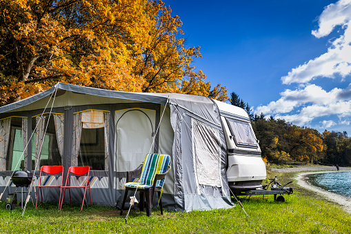 Tent「Summer holiday on the lake, Masuria, Poland」:スマホ壁紙(11)