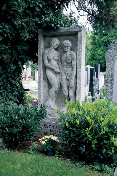 Imagno「Grave stone for Egon and Edith Schiele」:写真・画像(10)[壁紙.com]