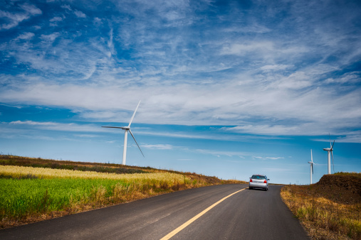 Sustainable Resources「Expressway along wind farm」:スマホ壁紙(4)