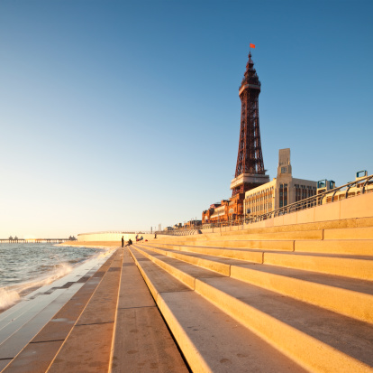 19th Century「Blackpool Tower, created and built by Charles Tuke and James Maxwell, on Blackpool Beach, Blackpool, Lancashire, England, UK」:スマホ壁紙(13)