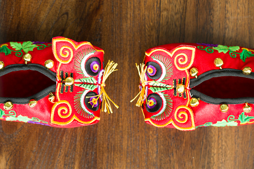 Embroidery「Tiger shoes」:スマホ壁紙(0)