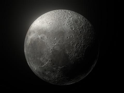Moon「Moon Glow Black Background」:スマホ壁紙(3)