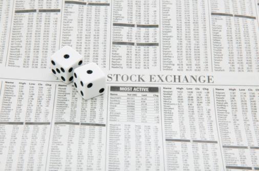 Economic fortune「Dice and stock newspaper」:スマホ壁紙(6)