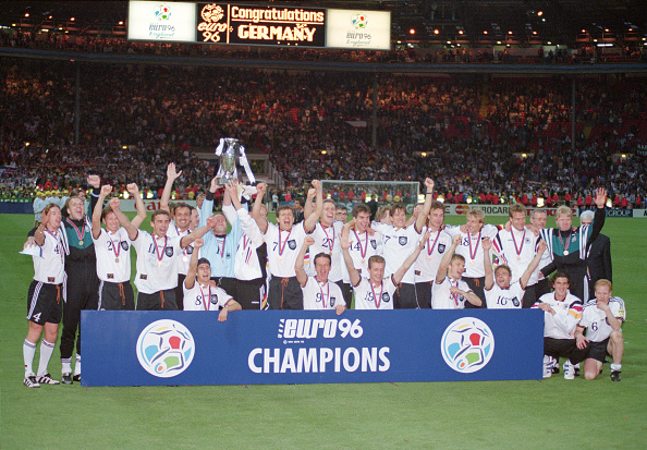 Germany「1996 UEFA Euro Championships Final Germany v Czech Republic」:写真・画像(0)[壁紙.com]