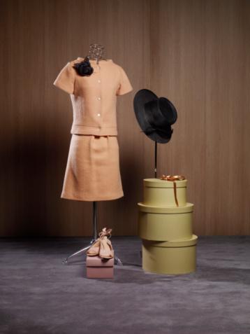 Dress「Dress on dressmaker's model by hat boxes and shoes」:スマホ壁紙(9)