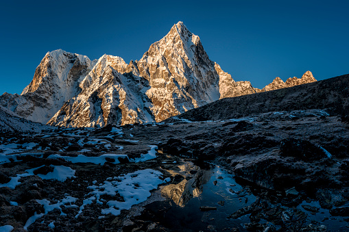 Khumbu「Nepal, Khumbu, Everest region, Arakam Tse at sunset」:スマホ壁紙(3)