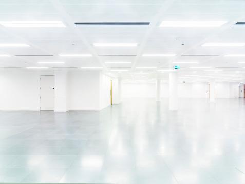 Architectural Feature「Empty modern office interior」:スマホ壁紙(18)