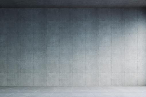 Concrete「Empty modern concrete room」:スマホ壁紙(16)