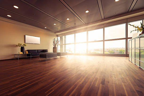 Empty modern office reception:スマホ壁紙(壁紙.com)