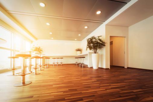 Open Plan「Empty modern office reception」:スマホ壁紙(6)