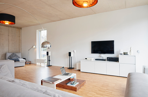 Wireless Technology「Empty modern living room」:スマホ壁紙(19)