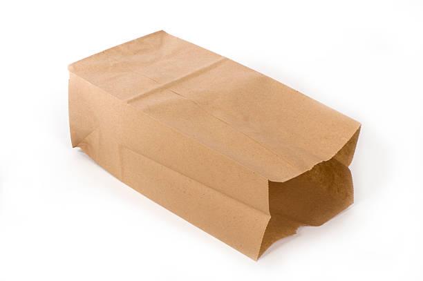 Empty paper lunch bag on its side:スマホ壁紙(壁紙.com)
