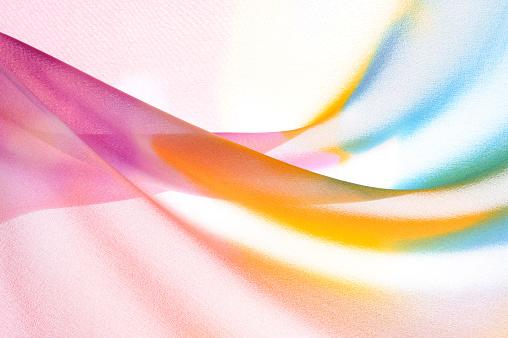 波「マルチカラーの波型のシルク」:スマホ壁紙(11)